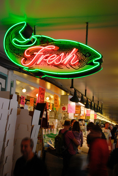 """<span id=""""title"""">Fish... and it's fresh!</span> Yes, they throw fish here, but all we saw was a stuffed animal fish being thrown to a child (aww...). One of the booths had a whole octopus, I would have liked to see them throw that."""