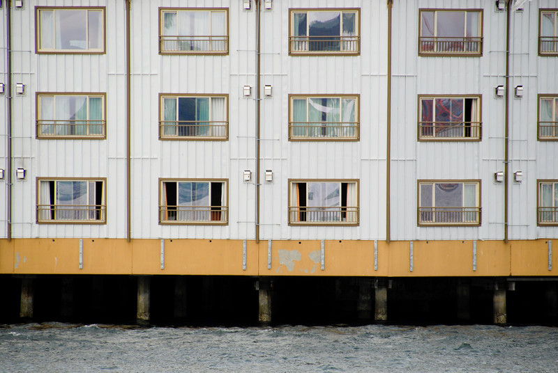 """<span id=""""title"""">Waterfront Apartments</span> Our tour guide said that people used to fish our of their windows and catch salmon. But, since salmon are huge, they did damage to the windows and outside of the building, so they put a stop to that."""