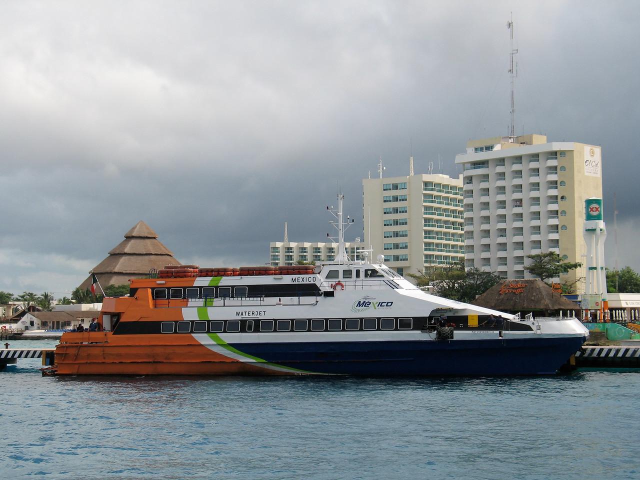 We arrive in Cozumel for a boat ride to Playa del Carmen.
