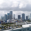 Looking across the cruise terminal, with downtown Miami in the background.