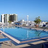 South Beach hotel rooftop pool.