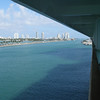 Causeway and South Beach.  Shot taken from our stateroom balcony.
