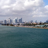 Onboard the Pearl looking at downtown Miami.
