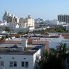 View from the South Beach hotel rooftop.  Cruise ship in the background leaving port.