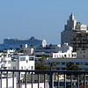 View from the South Beach hotel rooftop.  Norwegian Epic in the background leaving port.