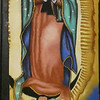 Our Lady of Guadalupe. this 'drawing' is made of sand and lying on the floor. I had to rotate and adjust the picture.