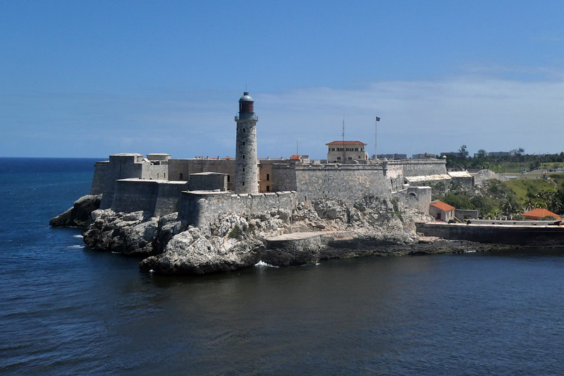 Castle Morro at entrance to Havana harbor. https://en.wikipedia.org/wiki/Morro_Castle_(Havana)