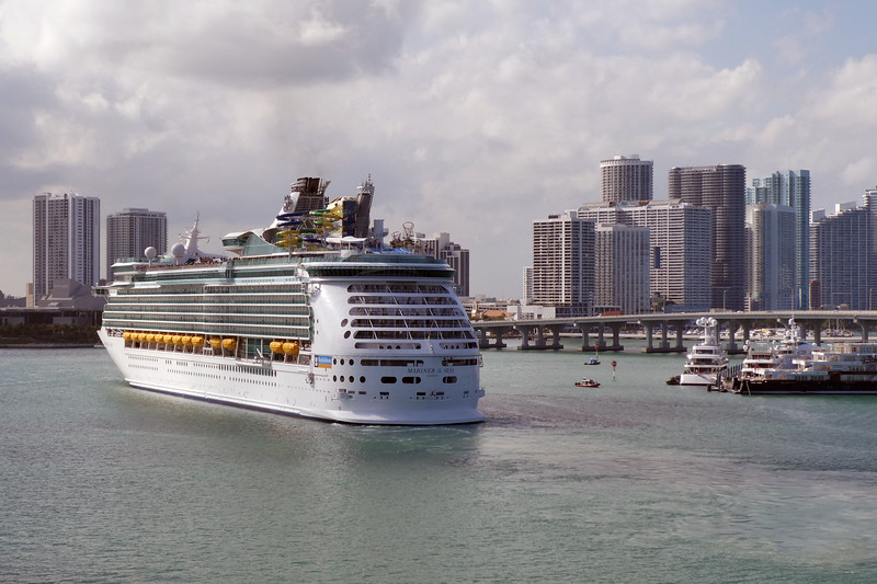 Mariner of the Seas leaving Port of Miami.