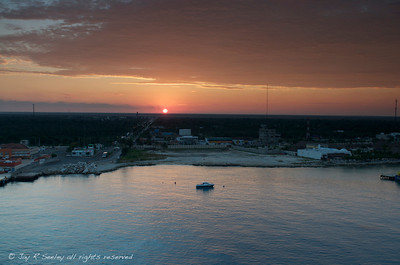 Sunrise over Cozumel, Mexico