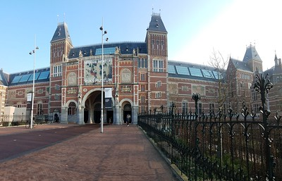 panorama of Rijksmuseum entrance