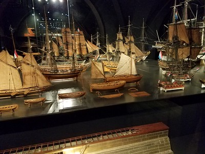 ship models in Rijksmuseum