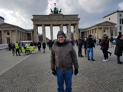 Alan at Brandenburg Gate