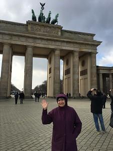 Margaret at Brandenburg Gate