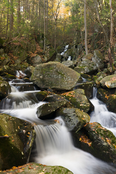 Goldmine Brook Falls in Chester, Massachusetts