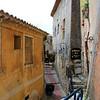 Stone walkways among the narrow alleys...