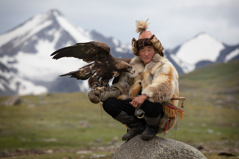 Esen, an eagle hunter and kind host