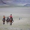 Horse racing at the naadam at Tsengal