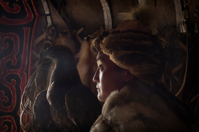 Esen, an eagle hunter and kind host