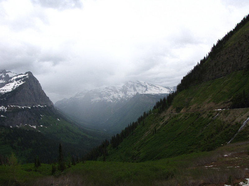 Driving the Going-to-the-Sun Road, Glacier National Park.