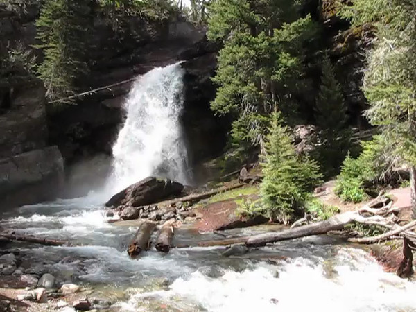 Baring Falls, Glacier National Park.