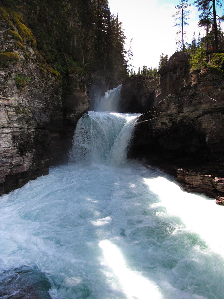 St. Mary's Falls, Glacier National Park.