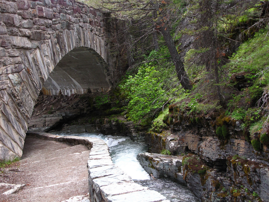 Sunrift Gorge, Glacier National Park.