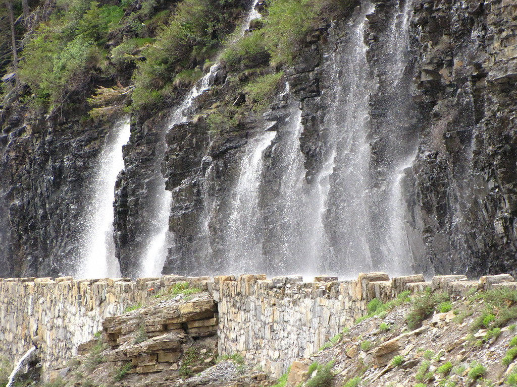 The Weeping Wall, Glacier National Park.