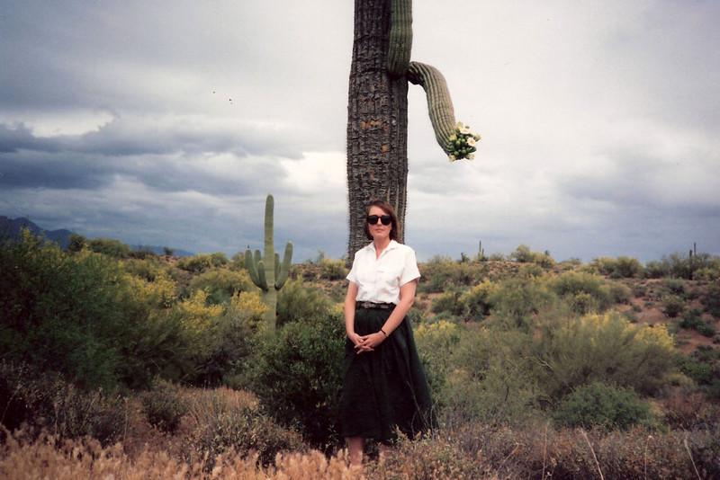 Mary Cay at Saguaro Natational Monument, May 1991