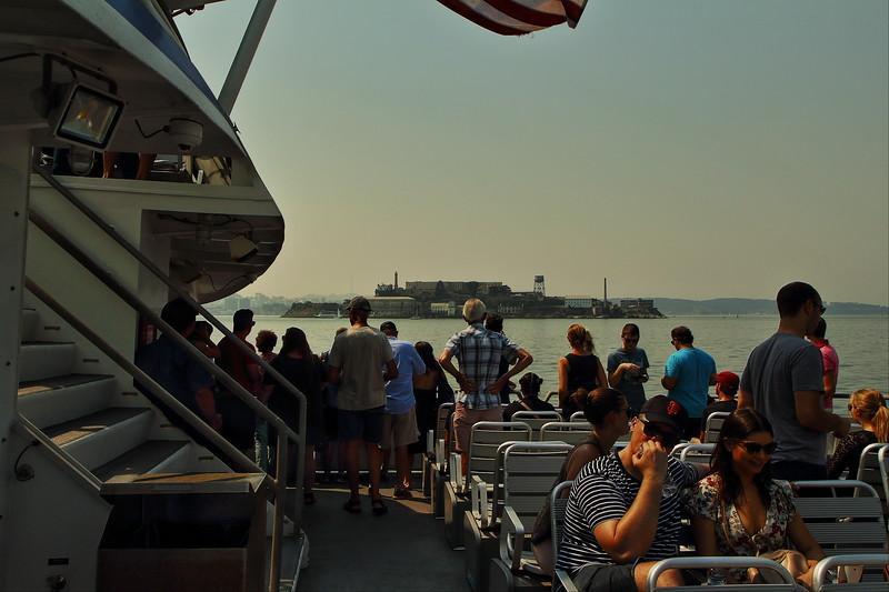 Alcatraz from the ferry to San Francisco