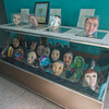 Masks painted by the patients of themselves.