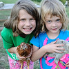 Day 1 - an overnight stop in Council Bluffs at my friends' new house/hobby farm.  This is Ainja and Chloe with two of their baby chicks.