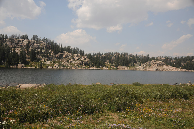 Lake on Beartooth Pass road in Wyoming.