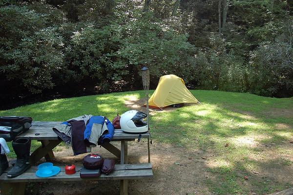 wet weekend camping