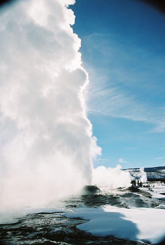 geyser basin- Lyon geyser