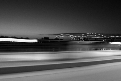 Memphis: Speeding Past Hernando de Soto Bridge