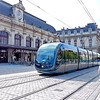 Bordeaux, France: The Tramway de Bordeaux needs no translation. This 3-line system with an innovative ground-level power supply opened in 2003. Even though its sleek and elegant cars pass right in front of the Gare de Bordeaux Saint-Jean rail terminal, you might prefer to forgo the convenience and start out on foot. Mind the traffic, particularly the quiet tramways, as you Cross Rue Charles Domercq from the station and follow the street as it curves into Rue de Tauzia.