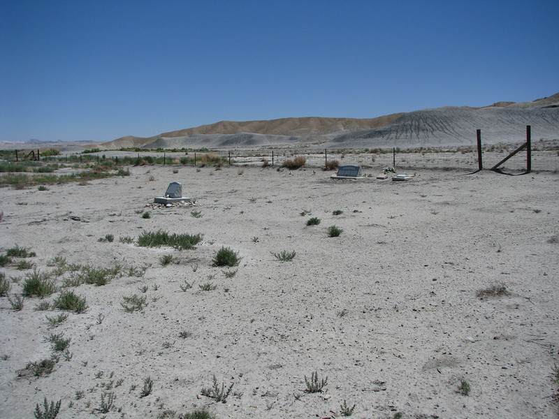 Someone must come out here to do some maintenance, many of the headstones are very clean and look unaffected by the desert climate.