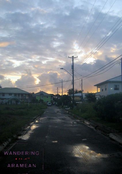 Sunrise on the streets of Bon Accord, Tobago