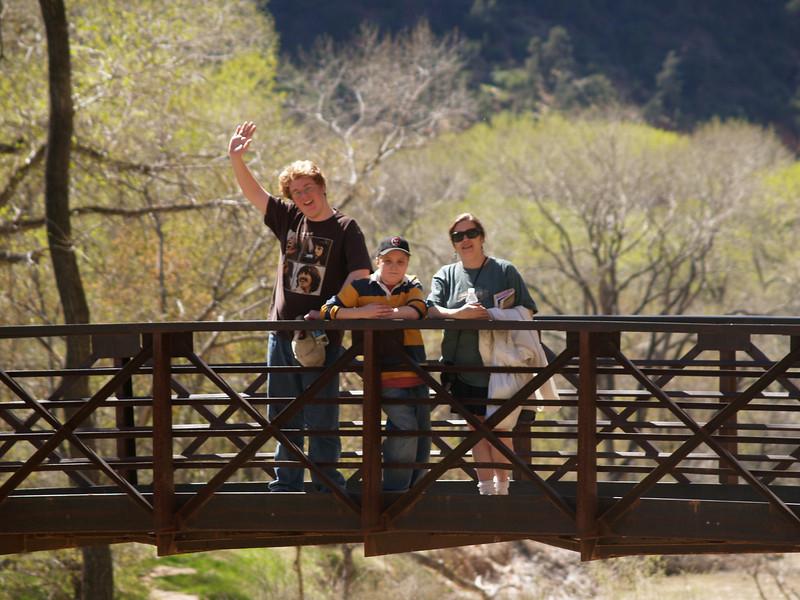 Family at Zion National Park, Utah, April 12, 2006.