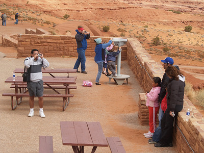 Tourists at the visitor center, Monument Valley Navajo Tribal Park, Navajo Nation, April 15, 2006.