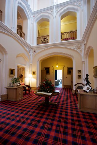 Hall de entrada del castillo.