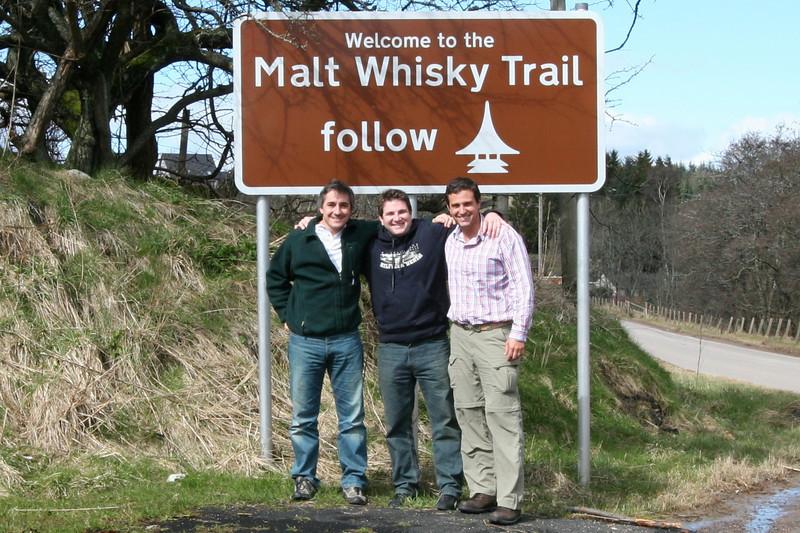 Comienzo de la ruta del Whisky