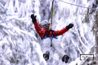 Ziptrek Ecotours Zipline in Whistler, BC.  These digital images were captured by the Ziptrek photographer, and purchased by m2 Photography.   Images can not be used without permission.