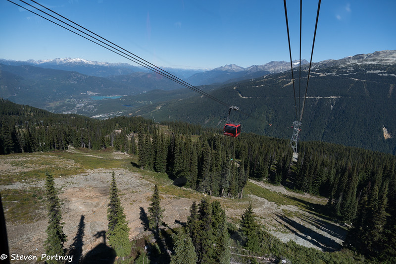 Peak to Peak Gondola from Whislter Mountain to Blackcomb Mountain