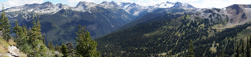 View of Blackcomb Mountain from Whistler Mountain