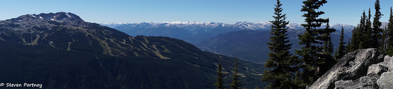 View of Whistler Mountain from Blackcomb Mountain