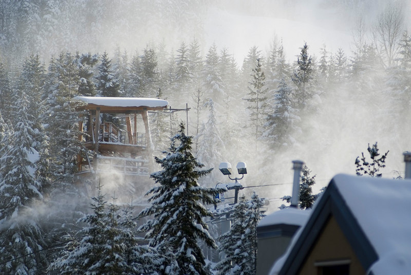 This was the view form our balcony at the Whistler Hilton in Whistler Village.