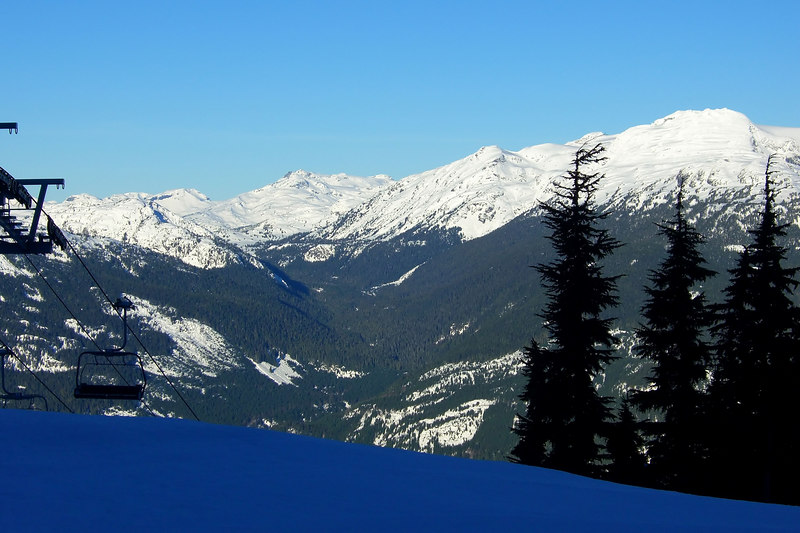 View from midway up Blackcomb Mountain