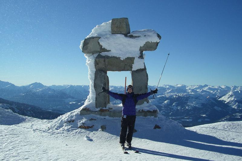 Matt and the Inukshuk on Whistler Peak.