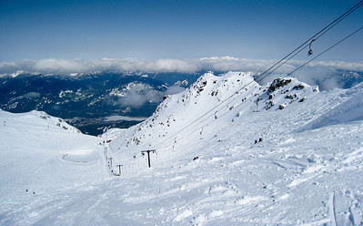 The T-Bar up Blackcomb Mountain